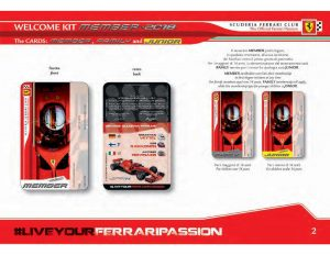 SFC KIT 2018 MEMBERSHIP CARD PHILLY SCUDERIA FERRARI CLUB
